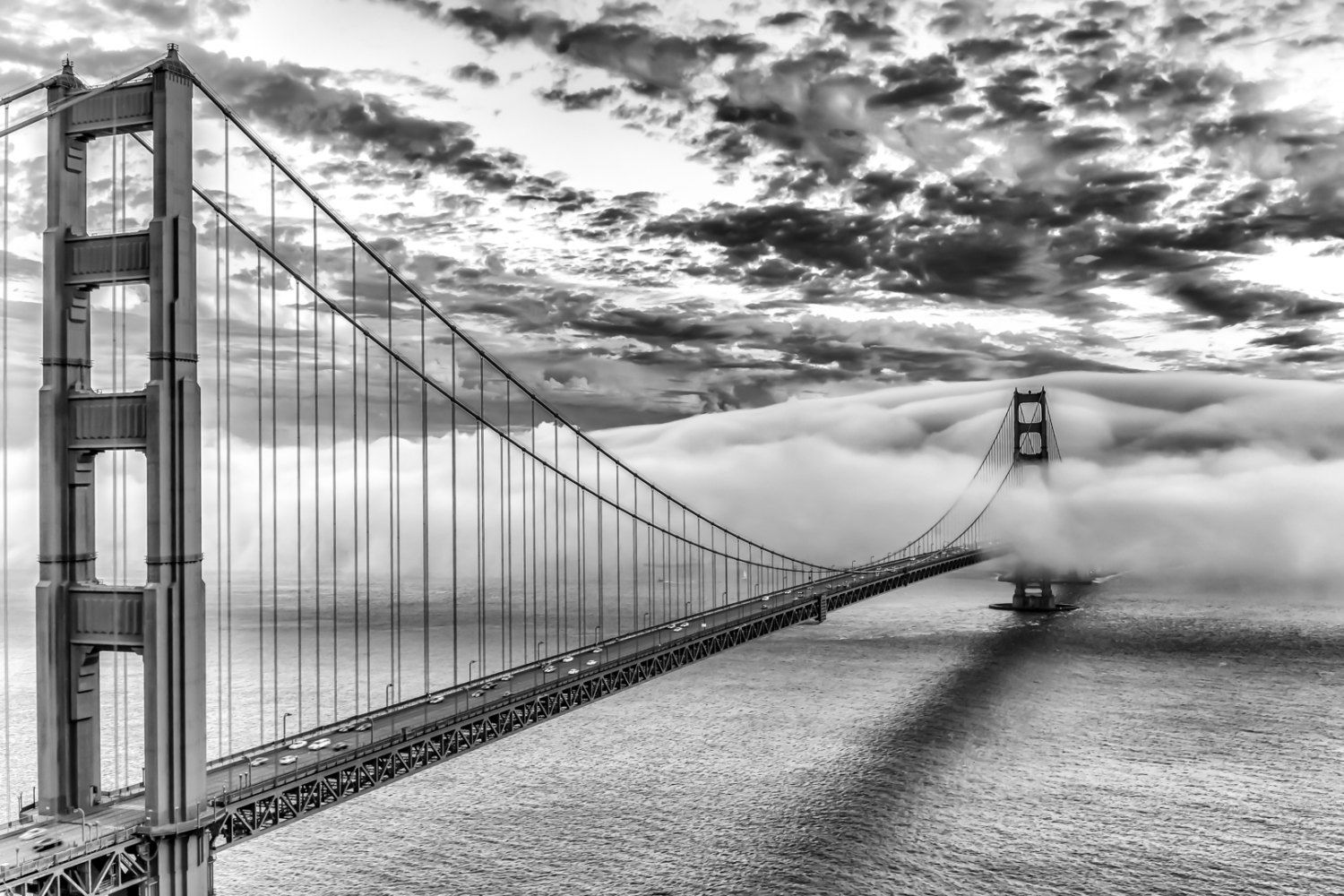 Black And White San Francisco Print Art Black And White