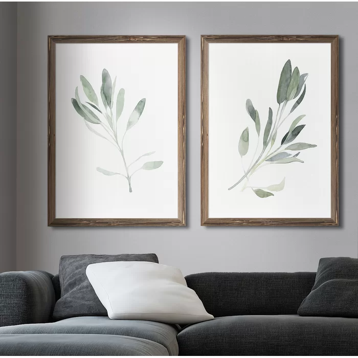 Simple Sage I By Vincent Van Gogh 2 Piece Picture Frame Painting Print Set Dining Room Wall Art Farmhouse Wall Art Wall Art Living Room