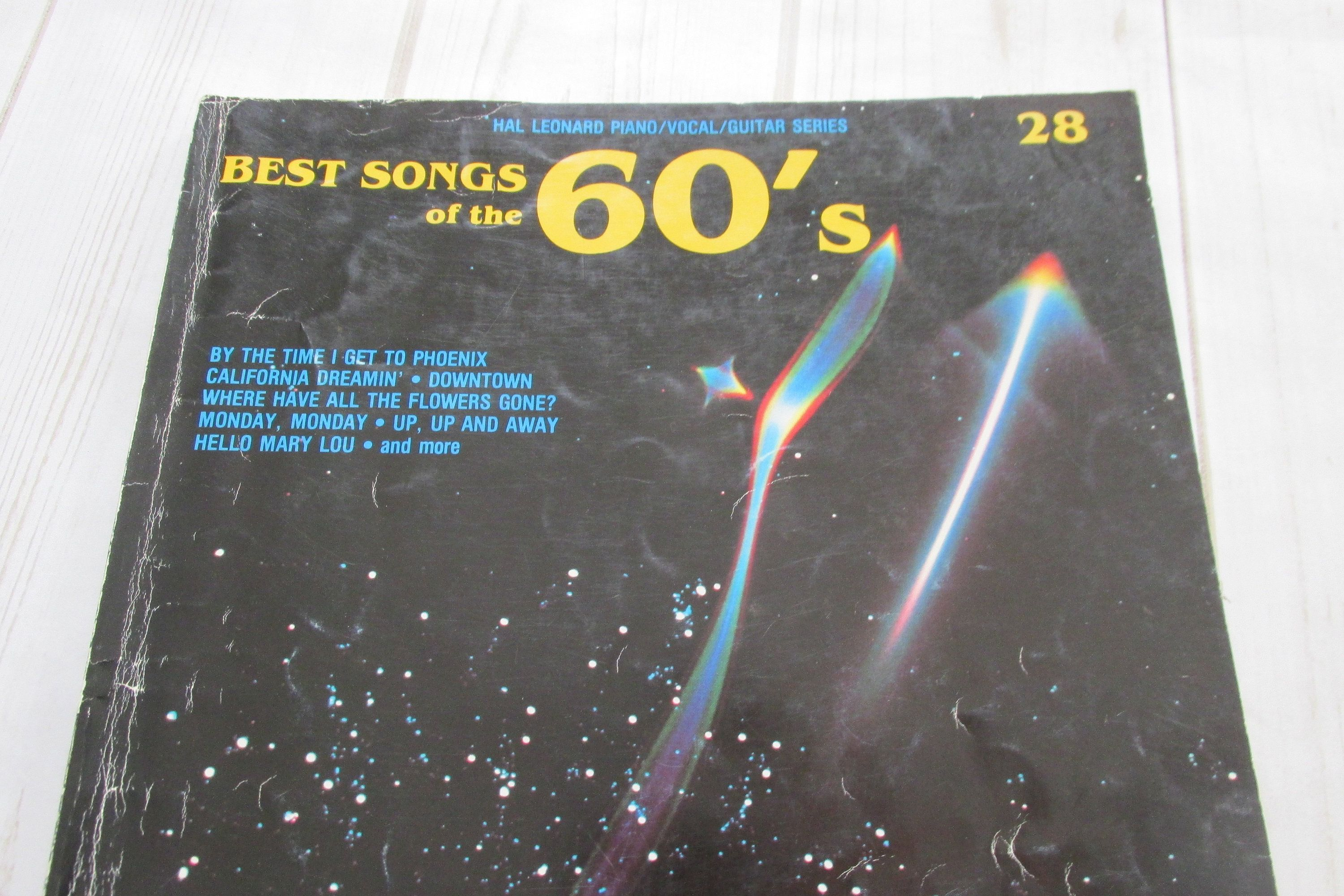 Best Songs of the 60s Sheet Music Song Book, Vintage Gift