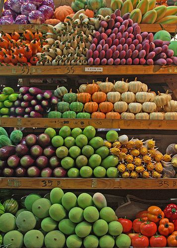 Fruit and Vegetable Market . Bangkok, Thailand