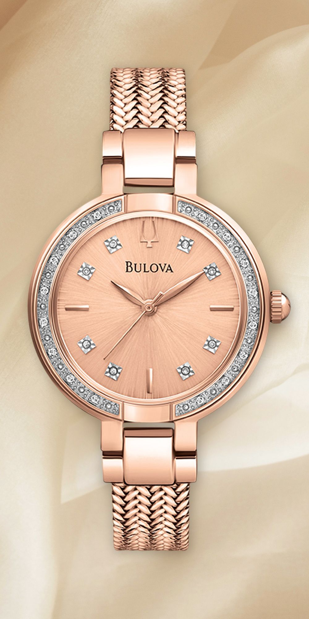 b221b7dbed9a Pretty in pink.  Bulova  Diamond