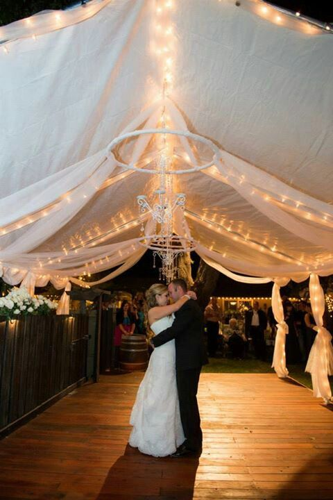 Pin By Jillian Ingwell On My Wedding Details Backyard Party Diy Party Tent Party Tent