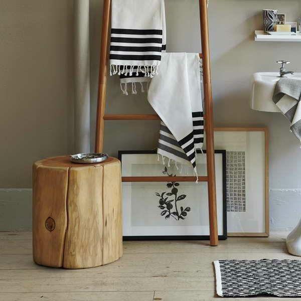 Baumstamm Tisch Badezimmer gestalten Ideen nachbauen Pinterest - badezimmer gestalten ideen