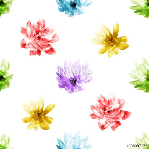 Seamless pattern with flowers , #spon, #Seamless, #pattern, #flowers #Ad