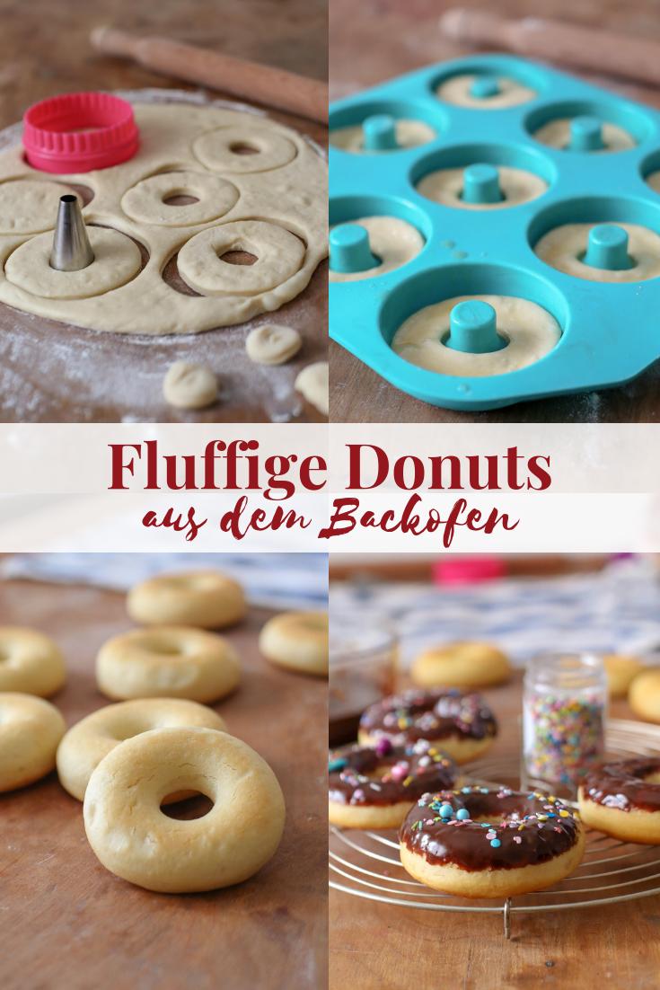 Fluffige Donuts aus dem Backofen mit Schoko-Salzkaramell-Glasur | ohne Frittieren – La Crema