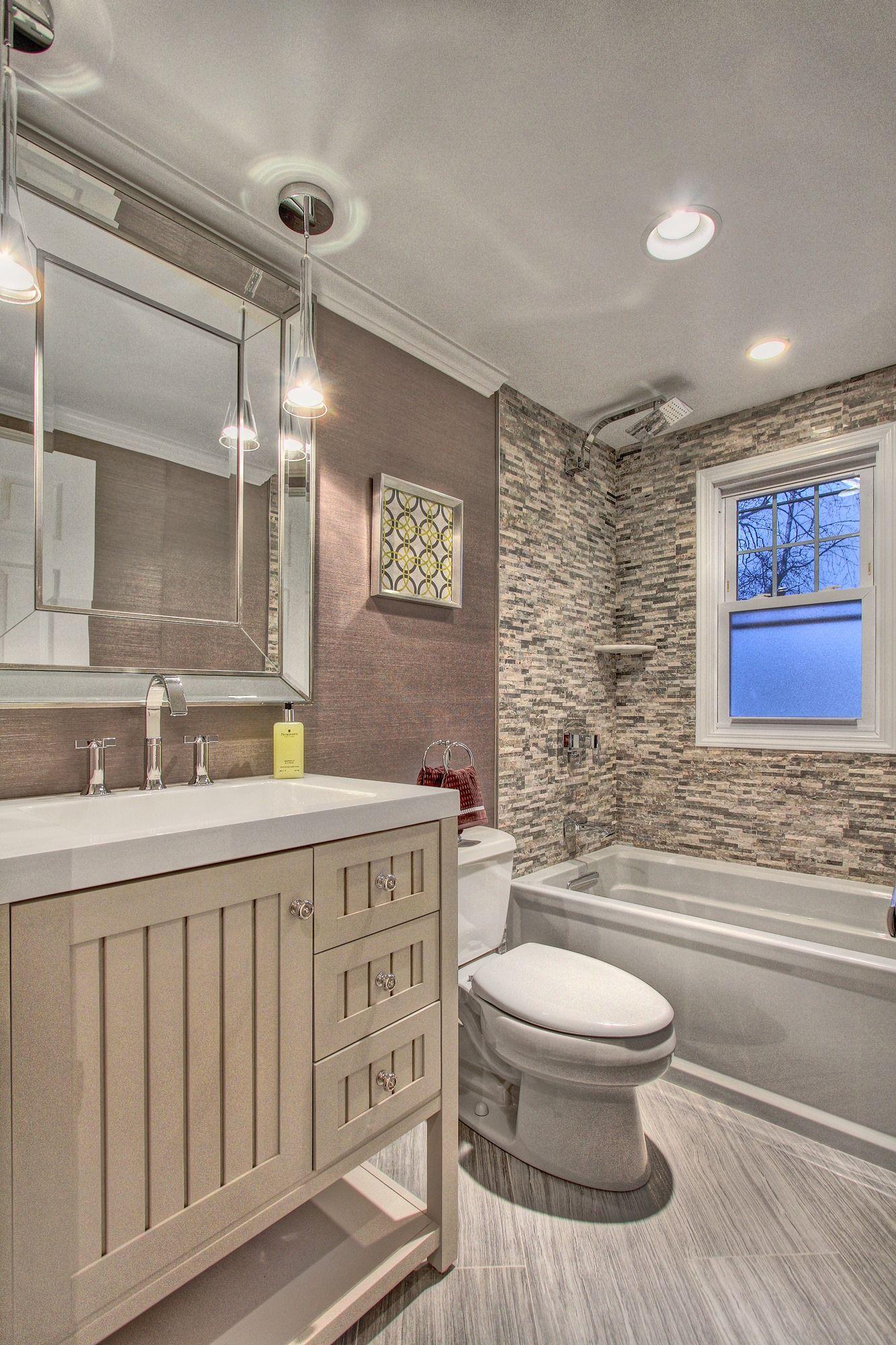 main floor bath ceramic tile floors, Allier vanity