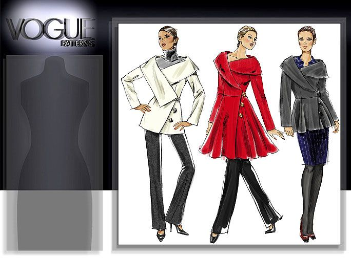 Vogue Patterns MISSES\' JACKET AND COAT 8465 | my voguepatterns ...