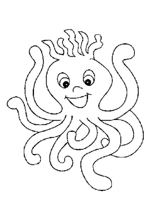 sea animals cute octopus lineart sea animals coloring page school kindergarten animal. Black Bedroom Furniture Sets. Home Design Ideas