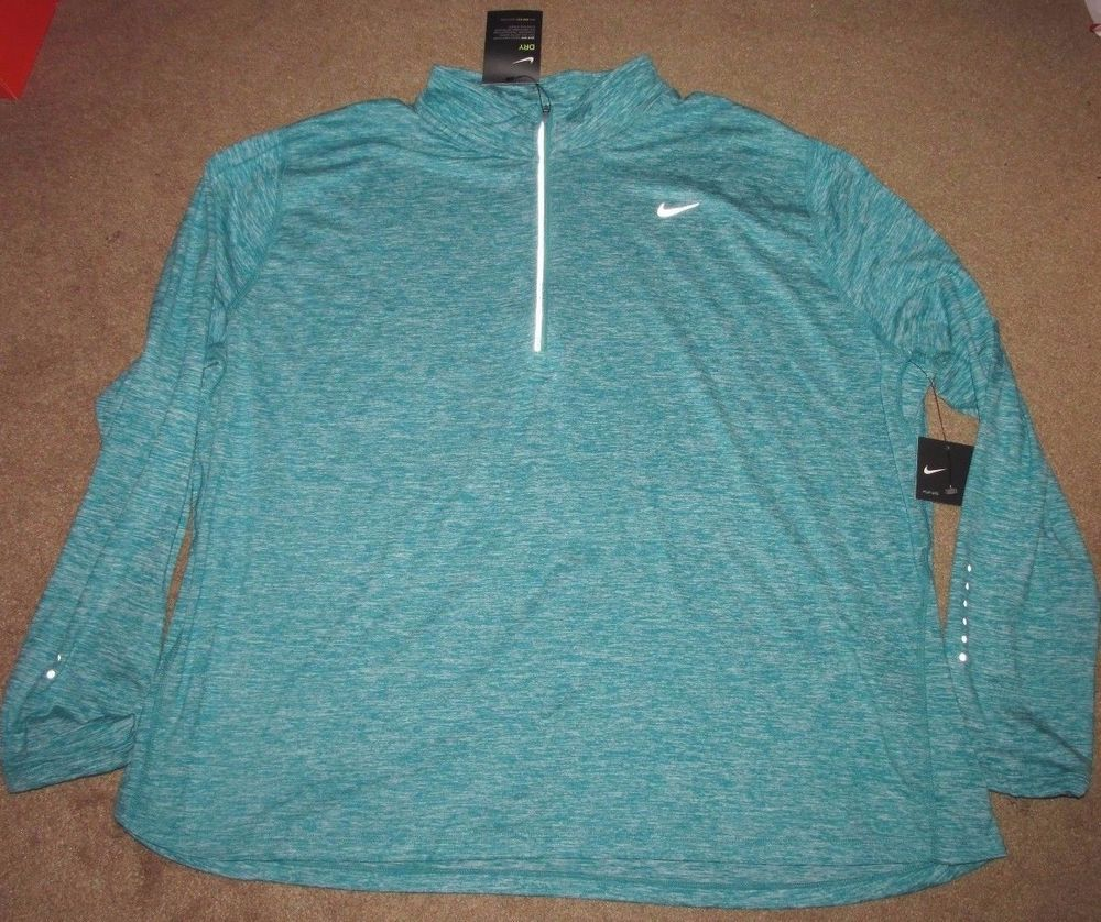 bcf1f5a9f30 Nike Dry Element Womens Running Top Shirt Plus Size Teal Charge 747058 556   Nike  ShirtsTops