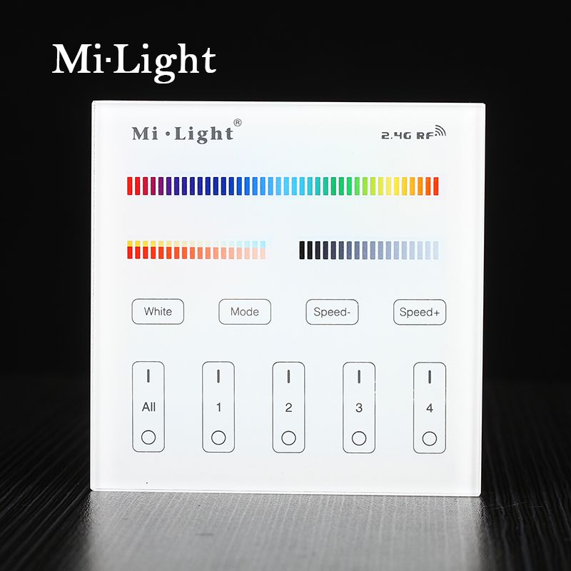 Milight t4 ac220v 4 zone rgbcct smart panel remote controller for milight rgbcct smart panel remote controller for led strip light lamp or bulb aloadofball Gallery