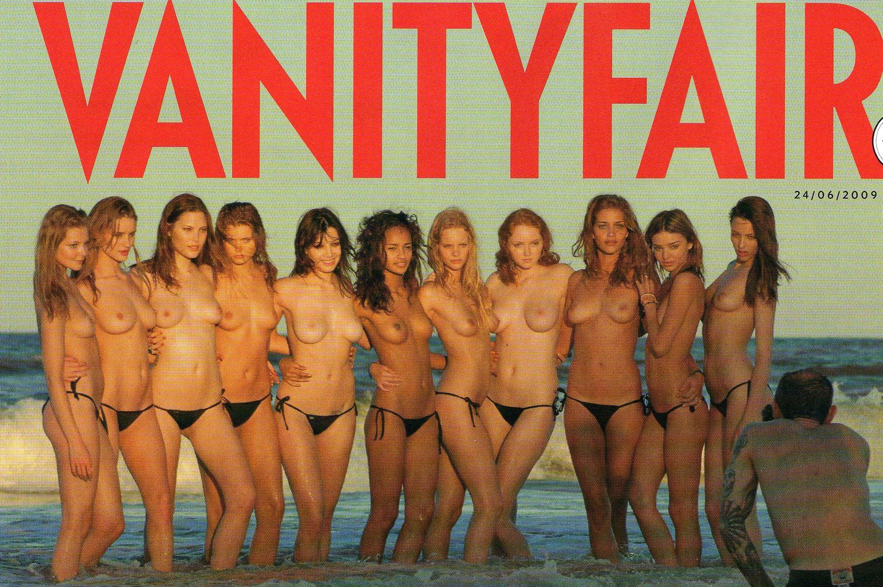 Pirelli calendar group topless