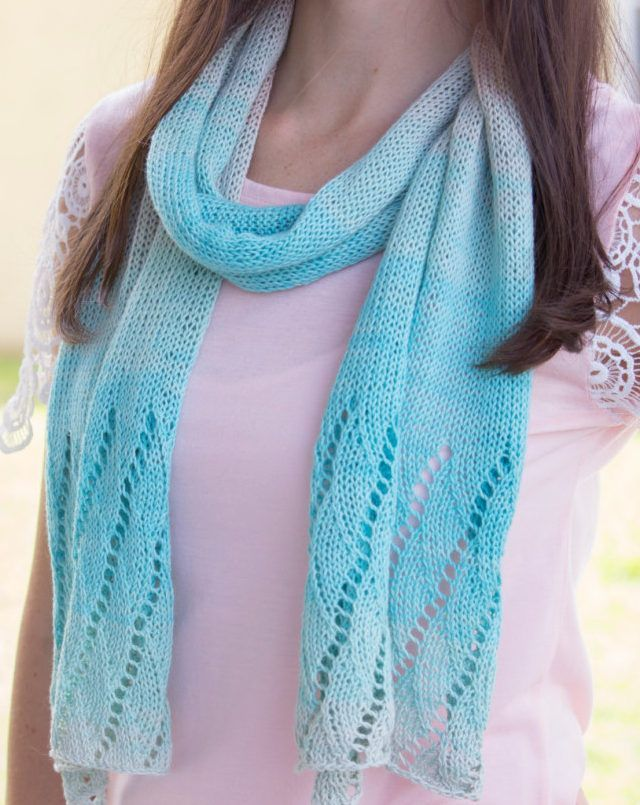 Knitting Pattern for Beach Scarf - Lightweight stockinette ...