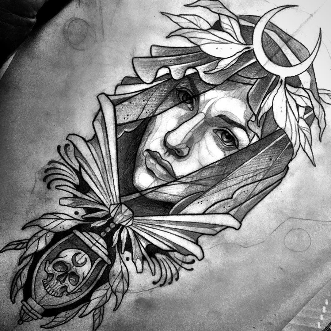 Pin De Andrew Mougios En Tattoos: Neo Traditional Tattoo