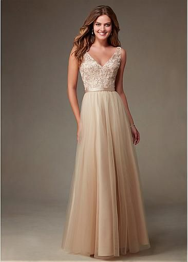 V-neck Natural Waistline Floor-length