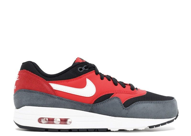 new styles 3281e 4470d Remise Nike Air Max 1 Essential Action Red White Black Homme Trainers Action  Rouge Blanche Noir 537383-602