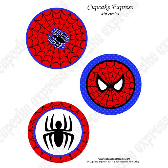 Spiderman printable 4incircles DIY  Spiderman Birthday