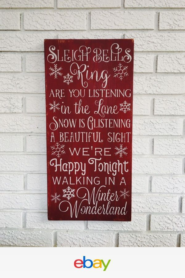 Large Rustic Wood Sign - \
