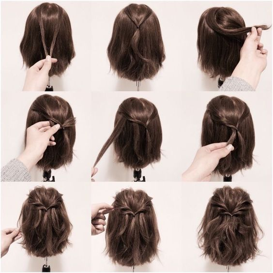 Use A Few Strands To Make A Really Pretty Twisted Look Hair Styles Braids For Short Hair Short Hair Styles