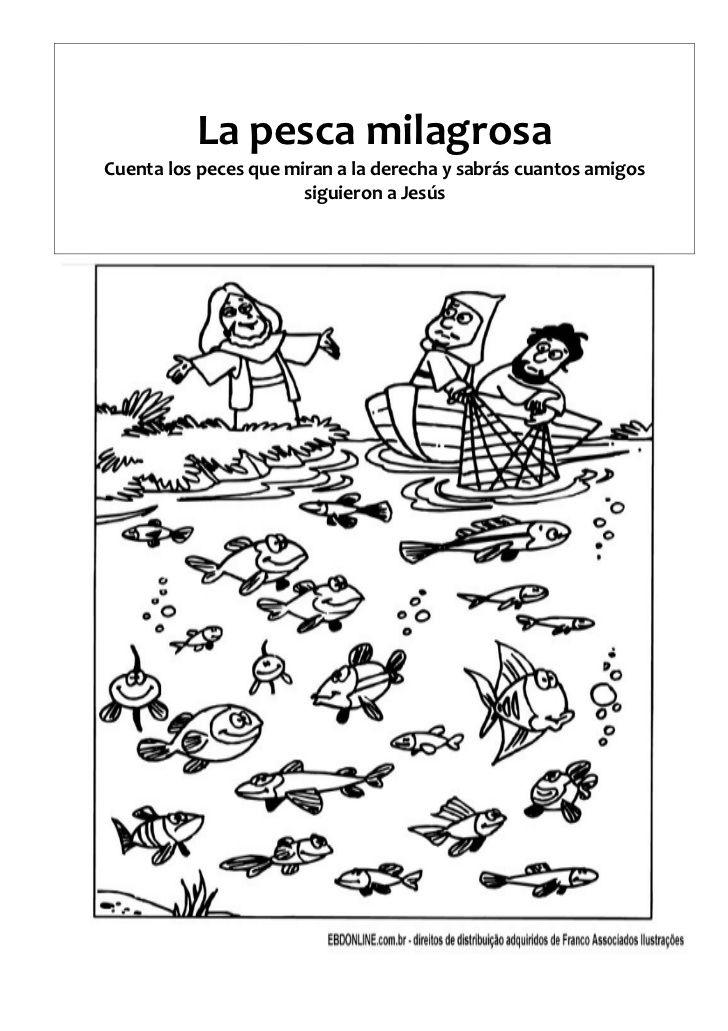 ME ABURRE LA RELIGIÓN: LA PESCA MILAGROSA | Trabajitos para Niños ...