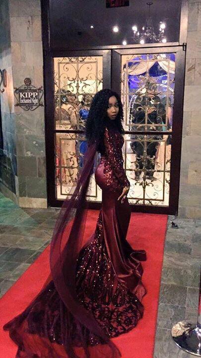 Club l chiffon prom dress viral