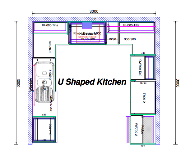 Image Result For 10x10 U Shaped Kitchen Layout Corner Pantry