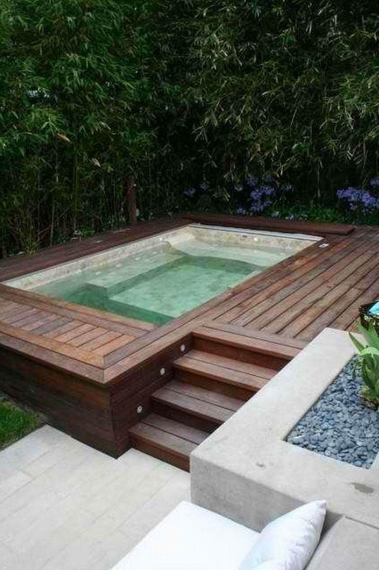 55+ Good Backyard Hot Tubs Decoration Ideas | Jardin | Swimming