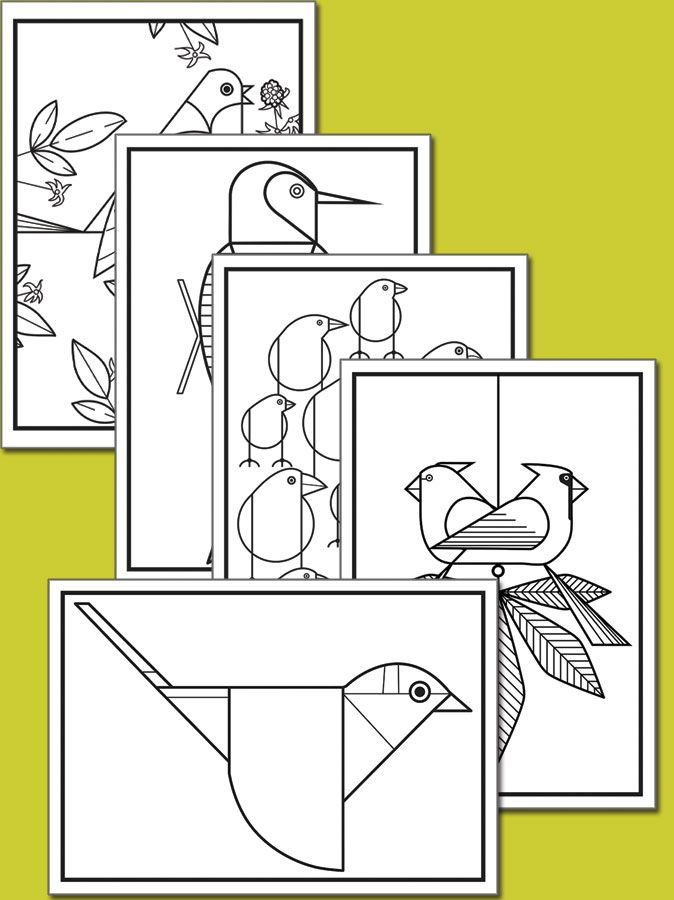Birds Coloring Cards (with Crayons) | Crayons, Bird and Galleries