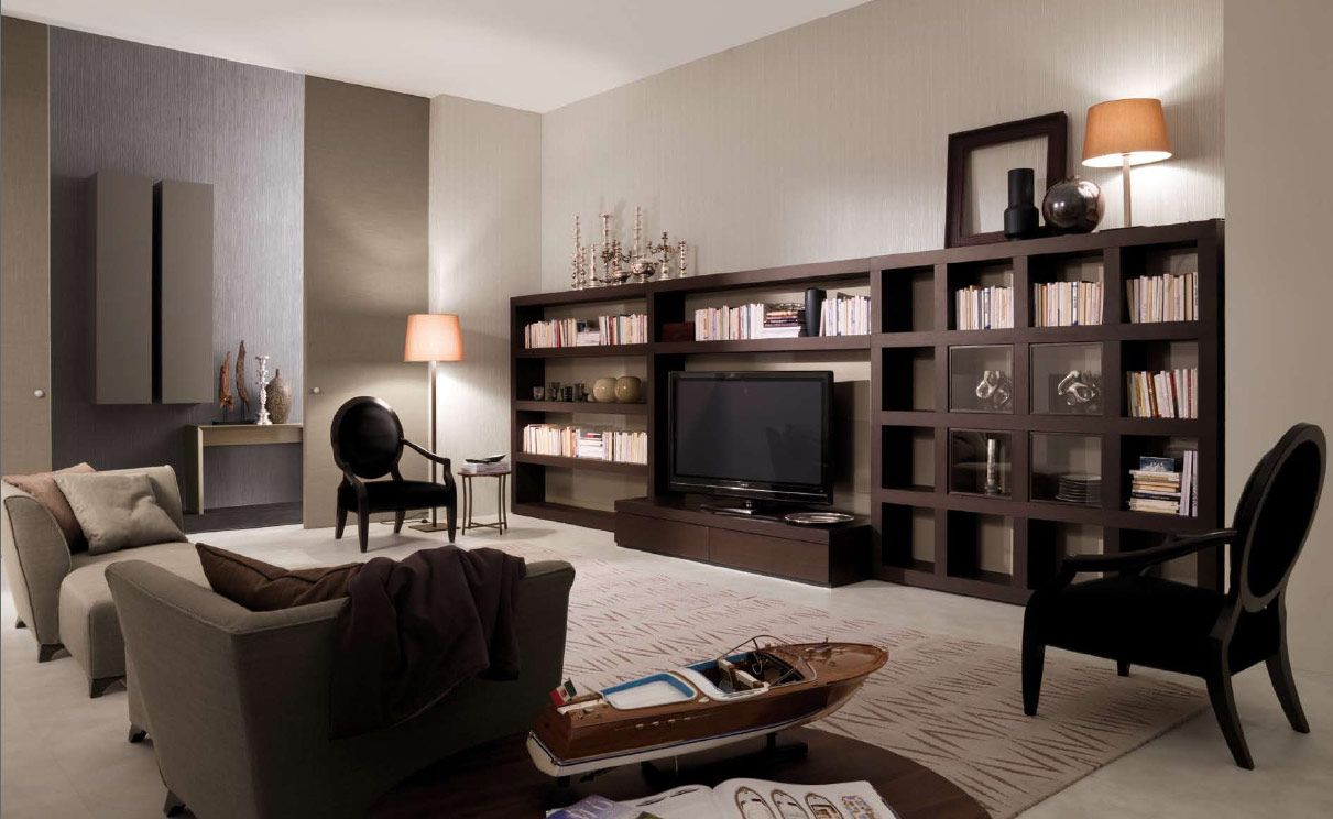 elegant dark wood living room furniture wrapping modern interior