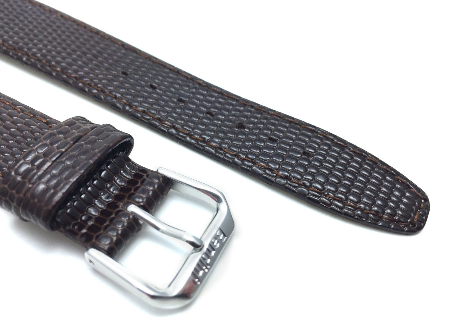 Lizard Skin Pattern Ultra Slim Genuine Leather Brown Watch Strap Band  8mm 10mm 12mm 14mm 16mm 18mm 20mm Anti-Allergic Lining #Watchband #watchstrap#Color #Reuse #Recycle #whatsoldisnew #watches #Etsy #ShopTicToc