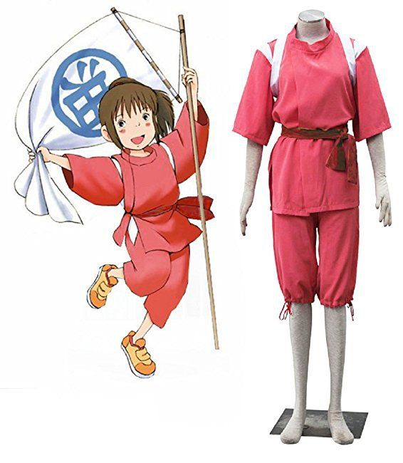 Spirited Away Cosplay Ogino Chihiro Costume Kimono Suit Spirited Away Costume Spirited Away Cosplay Anime Cosplay Costumes