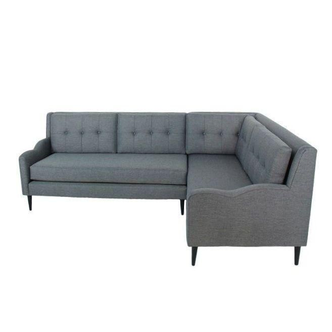 Genova Mid Century Style Sectional Sofa Grey Dimensions 135 0ʺw 34 0ʺd 35 0ʺh