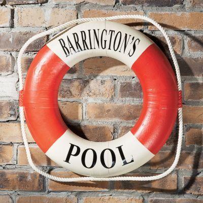 Personalized Life Preserver Ring Decorative Life Preserver