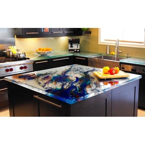 Colorful Glass Countertop By THINKGLASS INC