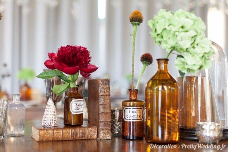 Une décoration de mariage style industriel et vintage