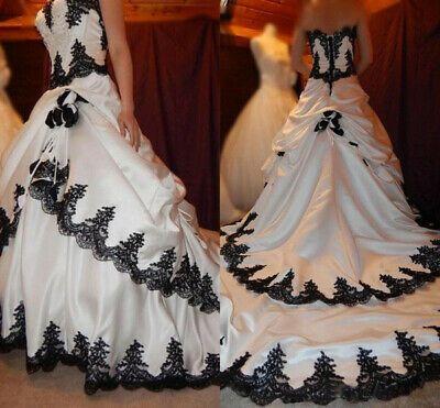 Photo of (Ad)eBay – Black and White Vintage Wedding Dresses Gothic La…