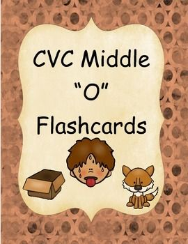 "CVC Middle ""O"" Flashcards   Flashcards, Three letter words, Cvc"