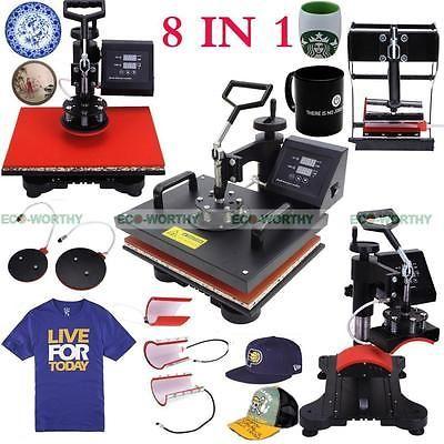 8 In 1 Digital Transfer Sublimation T Shirt Mug Hat Plate Cap Heat Press Machine Heat Press Machine Printable Heat Transfer Vinyl Press Machine