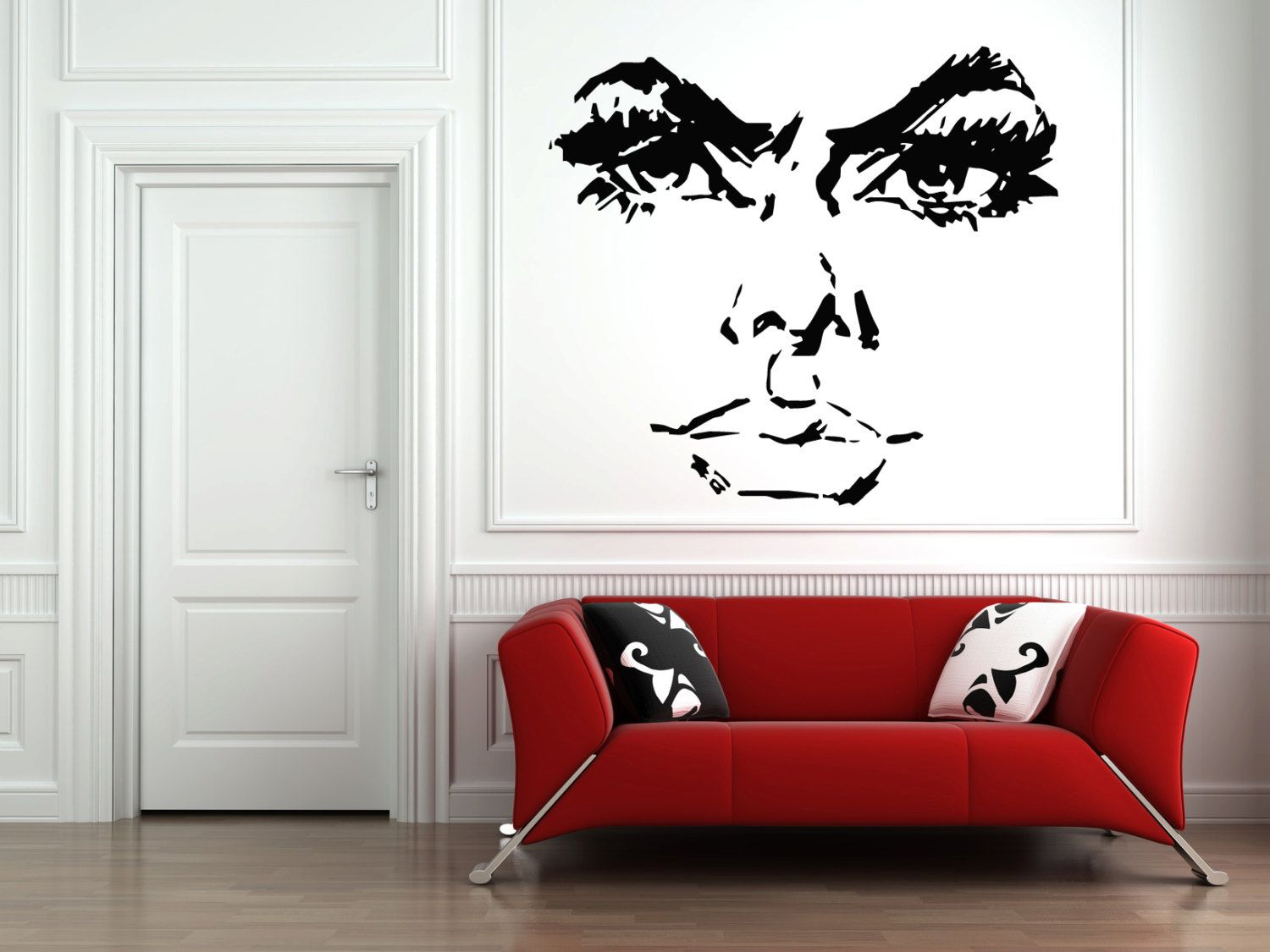 Wall Vinyl Sticker Decals Mural Room Design Pattern Woman Face Girl Model Eyes  bo559 by RoomDecalsAndDesigns on Etsy