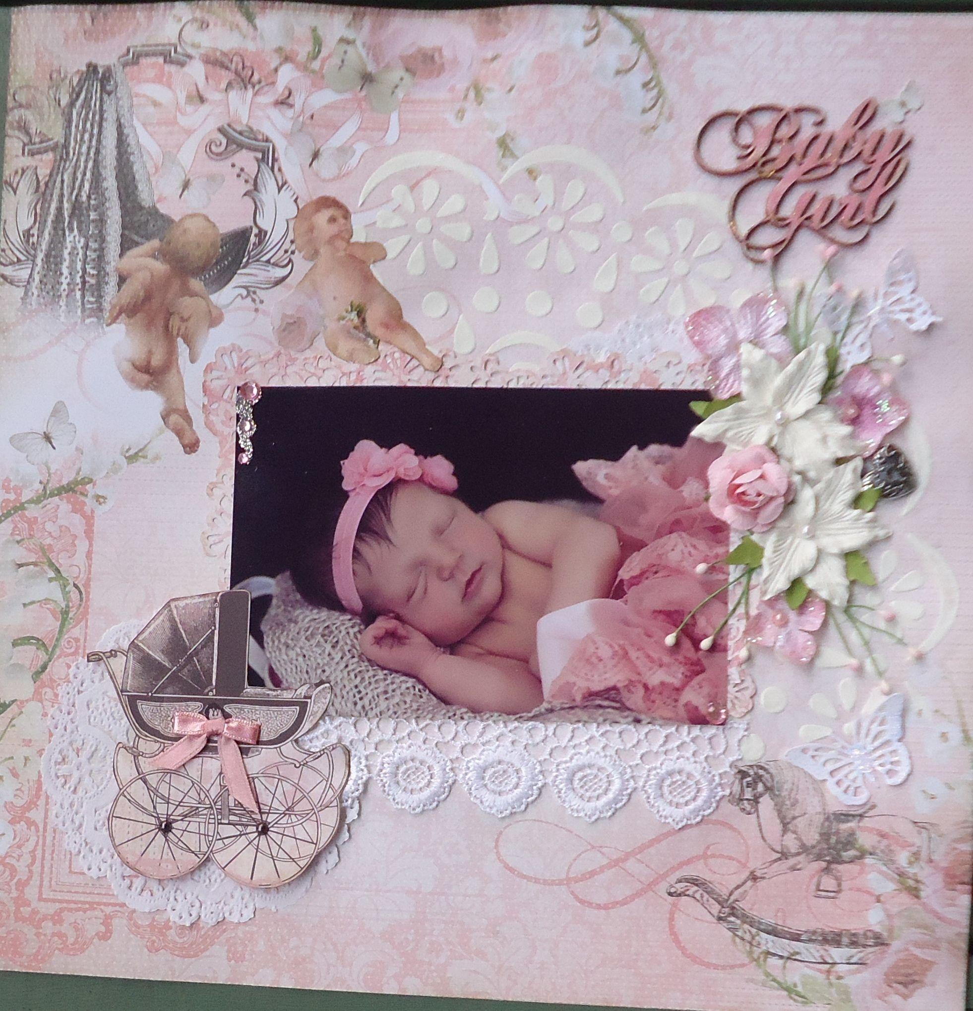Scrapbook ideas for baby girl - Baby Girl Scrapbook Com