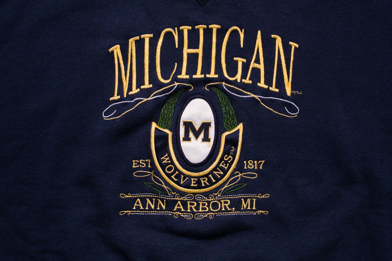 Vintage 90s University Of Michigan Wolverines Sweatshirt University Of Michigan Wolverines Michigan Wolverines University Of Michigan [ 1000 x 1500 Pixel ]