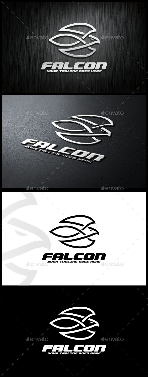 Falcon Logo Template  — EPS Template #eagle #bird #animal