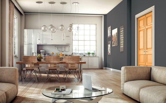 1001 ideas sobre colores para salones y c mo pintar la for Pintar salon color arena