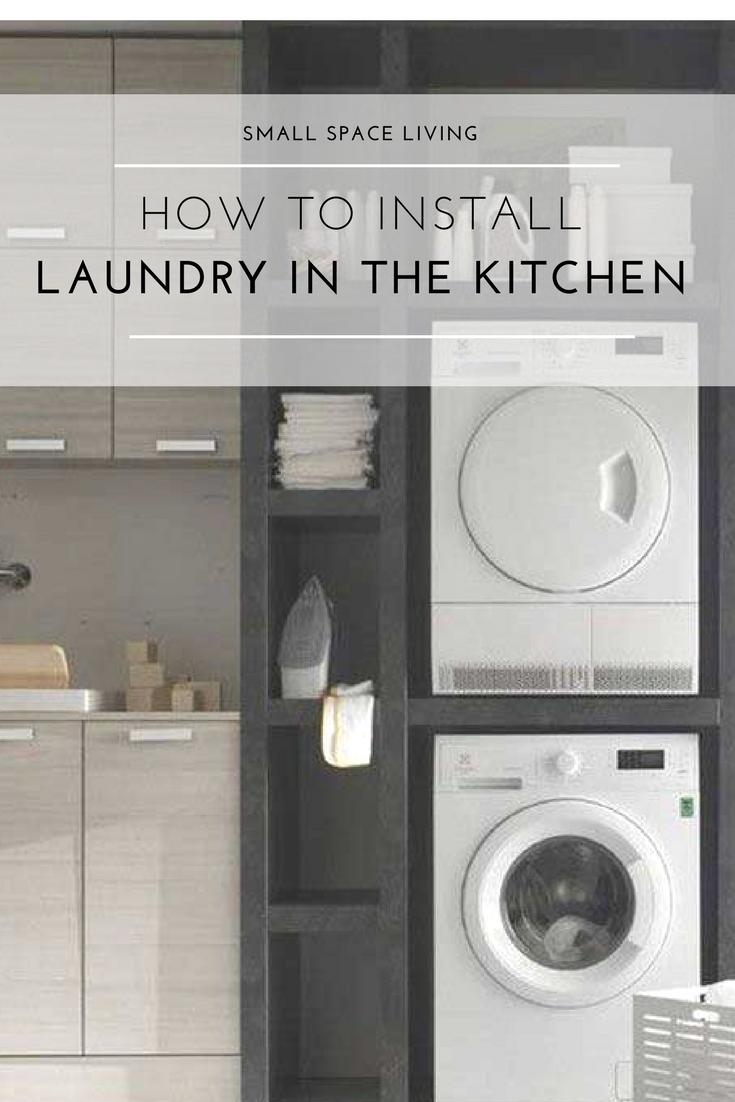 Washer Dryer In The Kitchen
