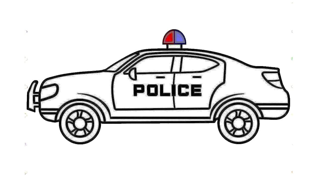 How To Draw A Police Super Car Bike Drawing Car Drawings Police Cars