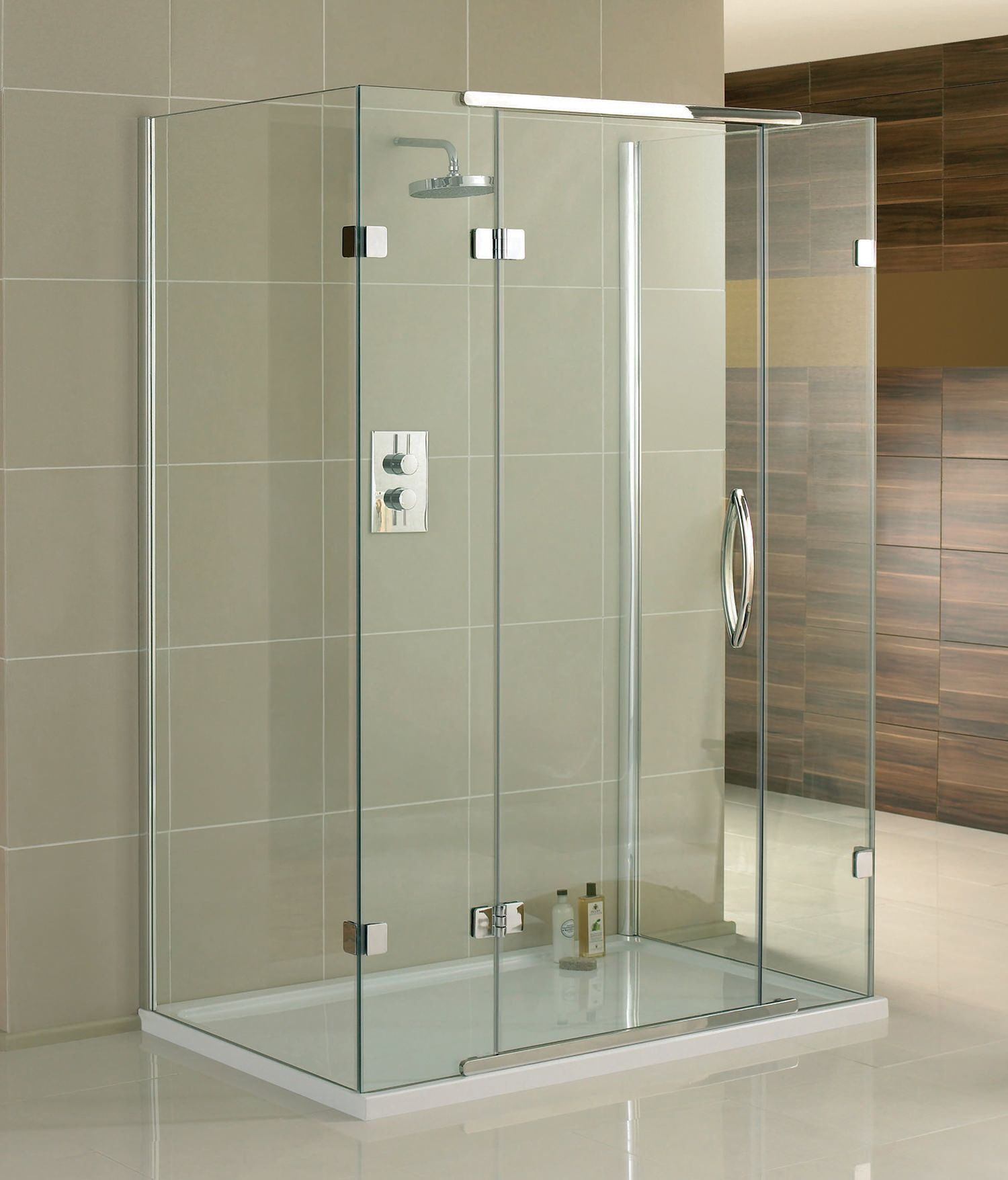 Aquadart Inline 3 Sided Hinged Door Enclosure 900 X 800mm Aq1034 Frameless Shower Enclosures Glass Shower Enclosures Shower Enclosure