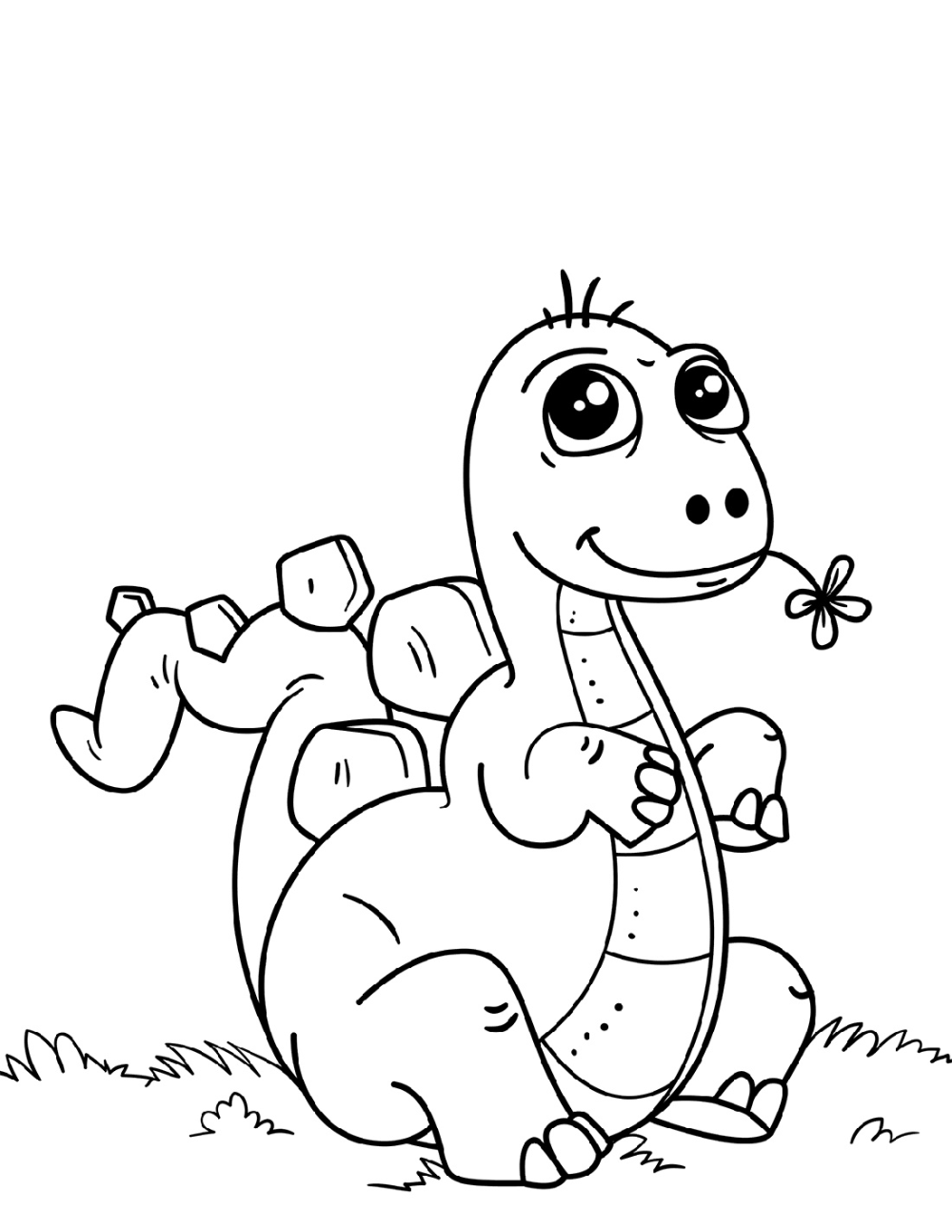 Baby Dinosaur Coloring Pages Printable Shelter
