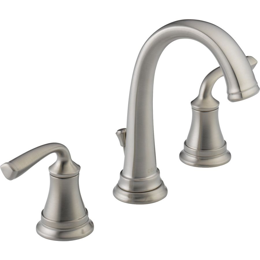 shop delta linden stainless 2-handle widespread watersense