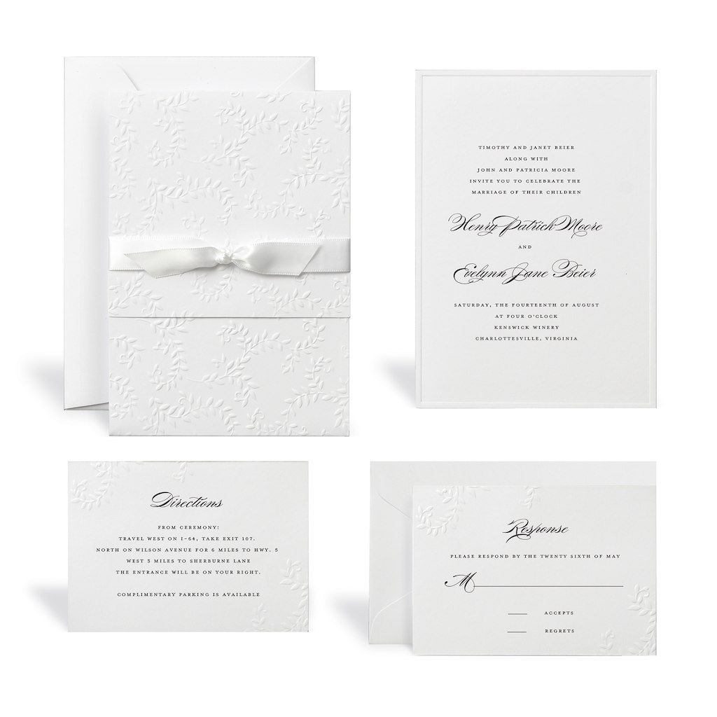 Embossed White Wedding Invitation Kit By Celebrate It | Invitation ...