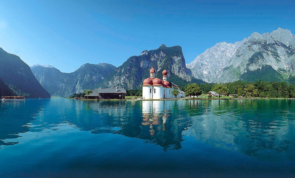 Lake Konigsee Thuringen Summer Travel Places To Visit Lake