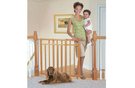 Banister U0026 Stair, Top Of Stairs Gate With Dual Installation Kit